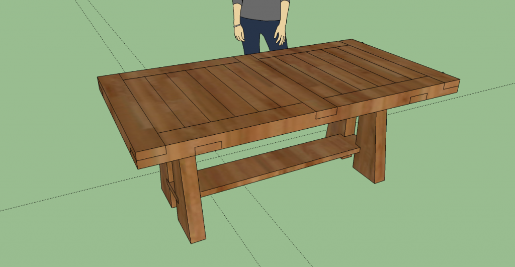 3d model of dining table with sketchup for Dining table models