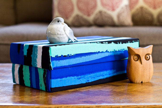 fabric covered shoebox