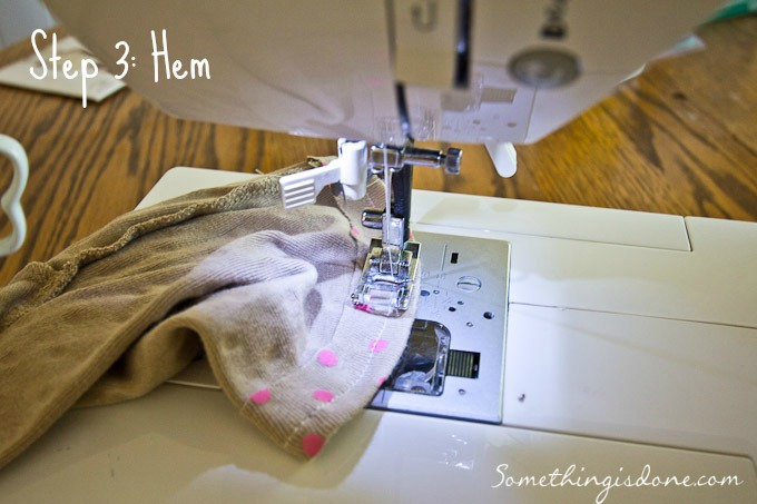 hemming shorts
