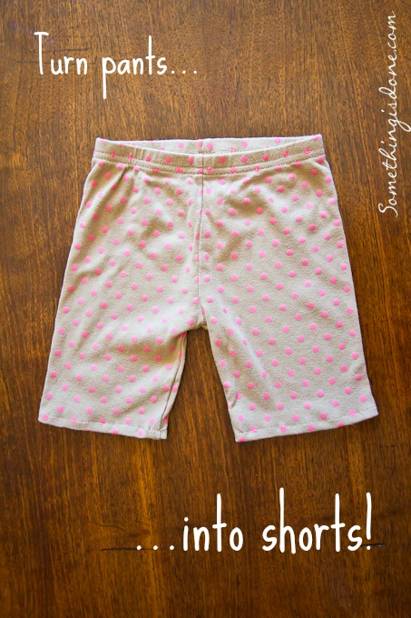 turn kids pants into shorts