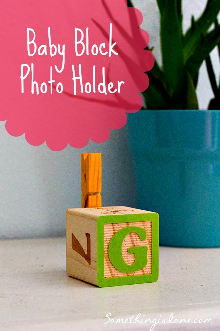baby block photo holder