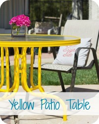 Painted Yellow Patio Table