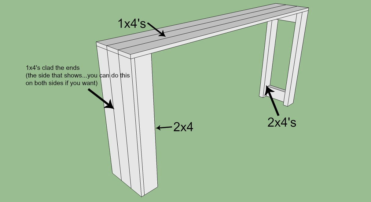 sofa table plans diy