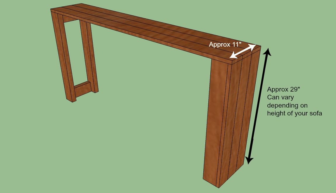 Build Simple Sofa Table picture on sofa table plans diy with Build Simple Sofa Table, sofa f1615299364060ff3fce5eb0b0ba10ad