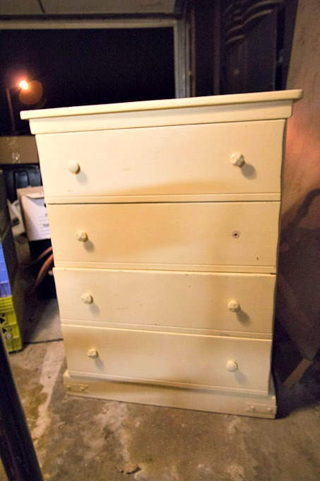 old dresser before