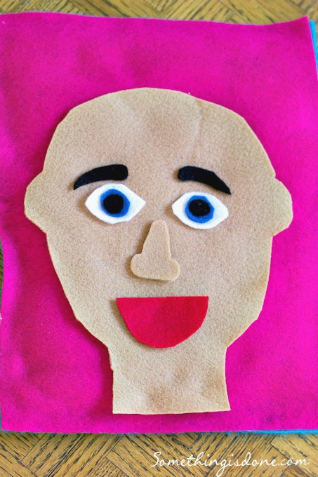 felt board face bald