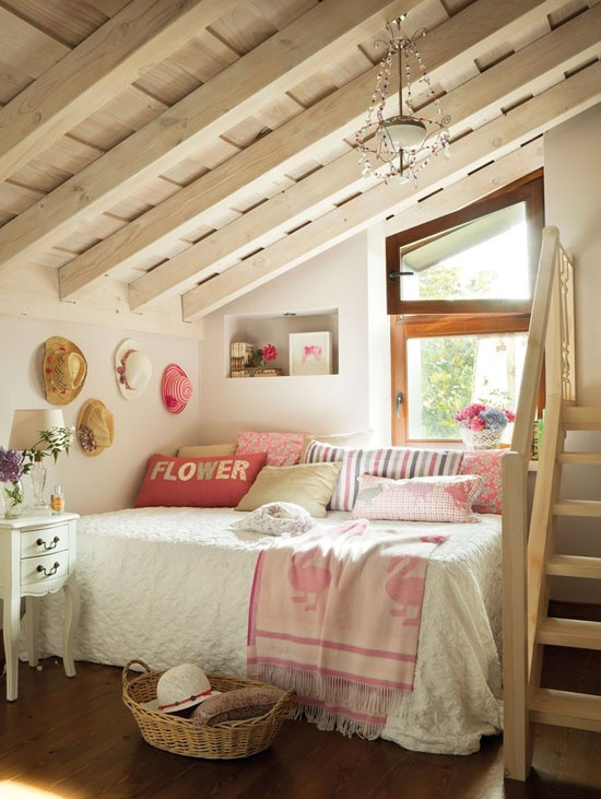 rustic sweet attic