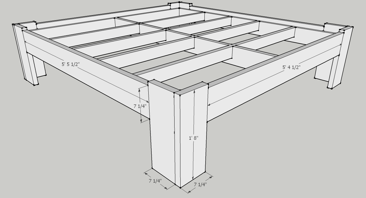 Permalink to homemade king size platform bed frame