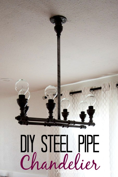 DIY pipe chandelier