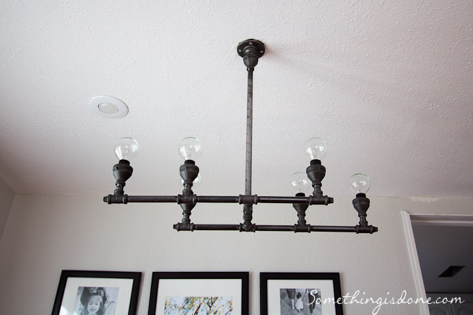 DIY Steel Pipe Light Fixture