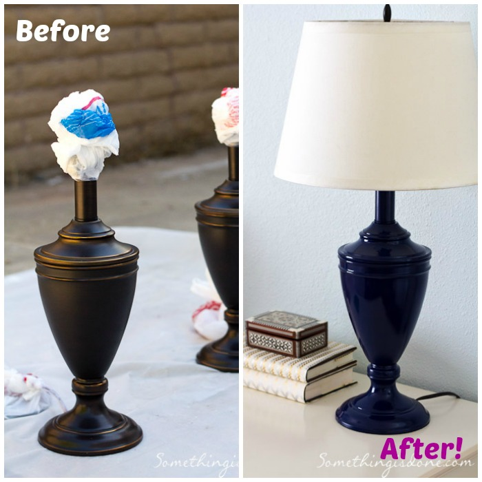 before after lamp